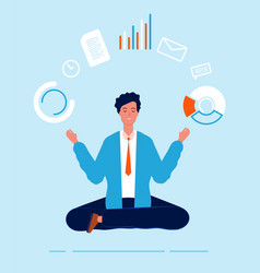 multitasking manager business person lotus pose vector image