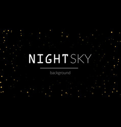 night stars sky background vector image