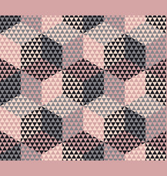 Pale color geometry hexagon seamless fabric sample vector
