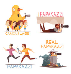 paparazzi characters design concept vector image