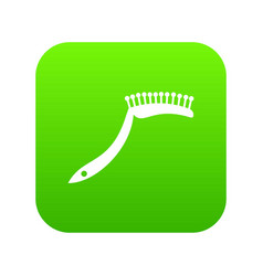 pet comb icon digital green vector image