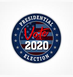 presidential election usa vote 2020 star emblem vector image