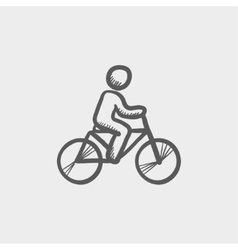 Racing bike sketch icon vector image
