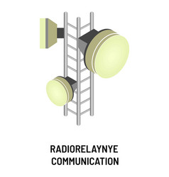 radio-relay communication isolated object signal vector image