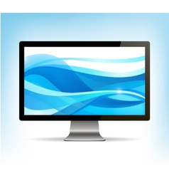 Realistic computer monitor pc display vector