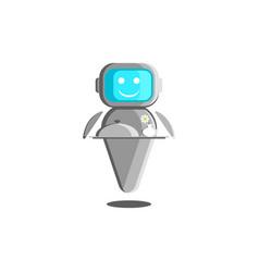 Robot waiter concept robotic vector