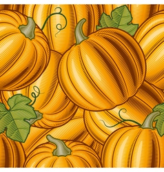 Seamless pumpkin background vector