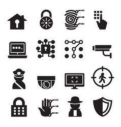 Security icon set vector