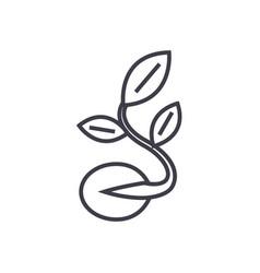 seedsgrow plant line icon sign vector image