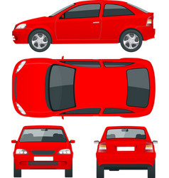 set of sedan cars isolated car template for car vector image