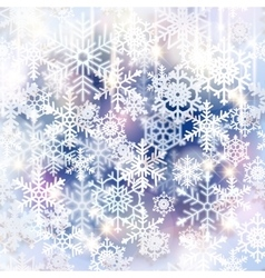 Snowflakes Christmas and new year design vector image