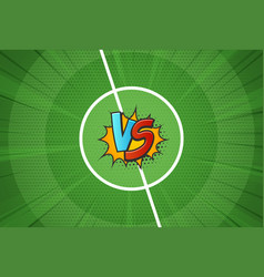 Texture of the football field vs for soccer vector