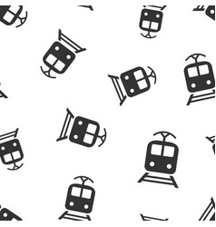 train transportation icon seamless pattern vector image