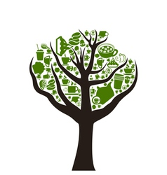 Tree food2 vector image
