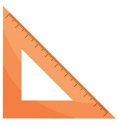 triangular ruler or measuring tool stationery vector image