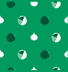 vegetable icon seamless pattern food icons vector image