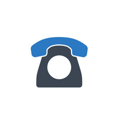 vintage phone related glyph icon vector image