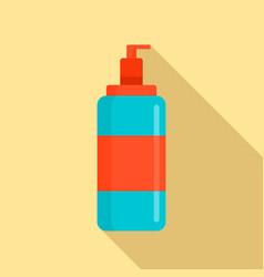 Wash dispenser gel icon flat style vector