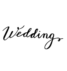Wedding hand drawn lettering card vector