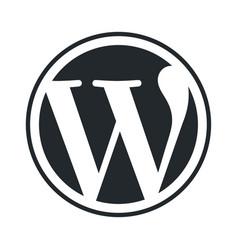 wordpress emblem vector image