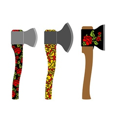 Axe traditional Russian pattern of colors - vector image