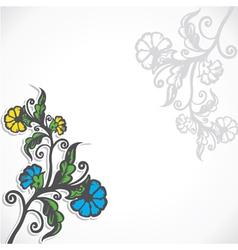 creative retro flower stock vector image