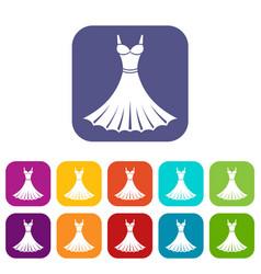 dress icons set vector image