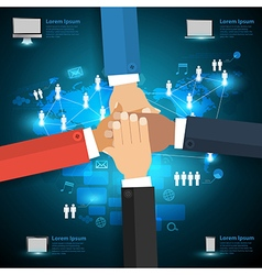 Networking technology with business team vector image vector image