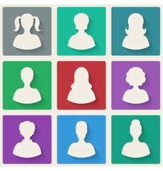 woman avatar icons vector image