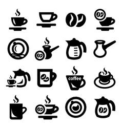 Coffee icons vector