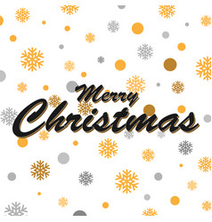 gold glittering snowflakes and merry christmas vector image