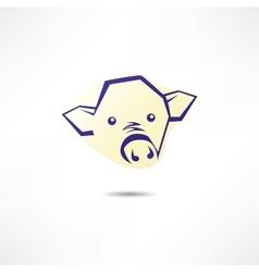 Pig Face Logo vector image vector image