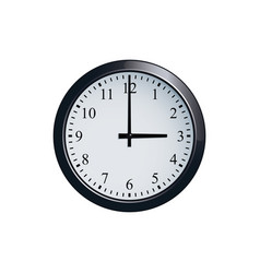 wall clock set at 3 o clock vector image