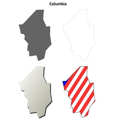 Columbia Map Icon Set vector image