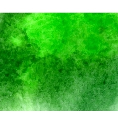 Green watercolor hand drawn stain vector image