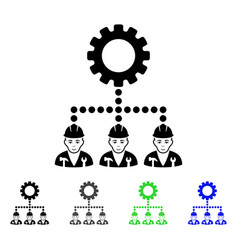 service staff flat icon vector image