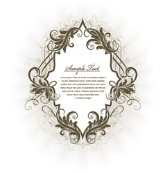 vintage label with floral vector image