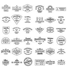 Vintage retro logo badges set vector