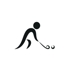 Winter sport Hockey icon monochrome vector image vector image