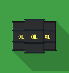 oil barrel icon in flat style isolated on white vector image vector image