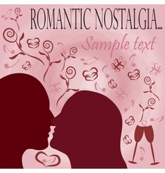 romantic nostalgia vector image vector image