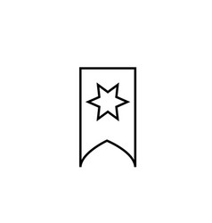 starred bookmark icon vector image