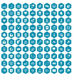 100 telecommunication icons sapphirine violet vector