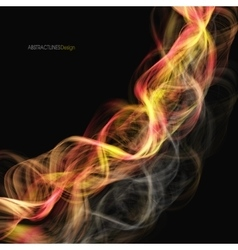 Abstract burn swirl background vector image