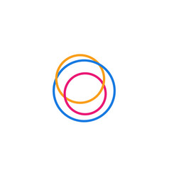 abstract circle line logo icon vector image