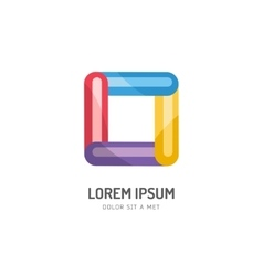 Abstract colored box icon Isolated on vector image