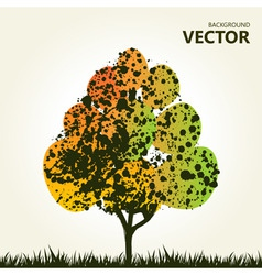 abstract colorful tree background vector image