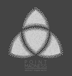 abstract dotted symbol triquetra vector image
