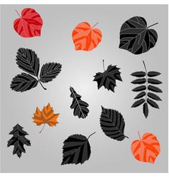autumn leaves background black leaves ag vector image