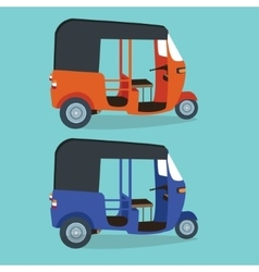 bajaj bajai indonesia transportaion drawing flat vector image
